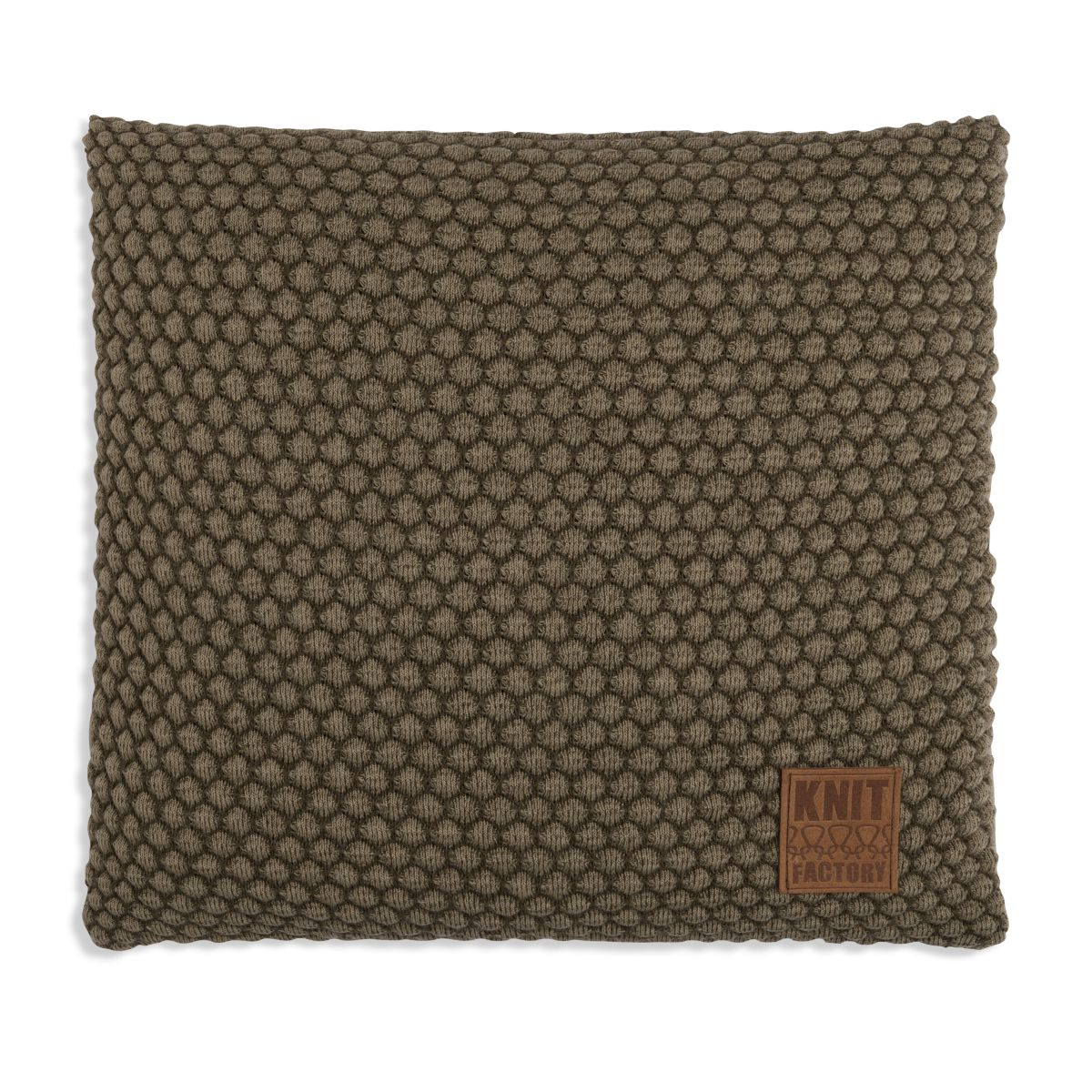 knit factory 1241244 kussen 50x50 juul groen olive 1