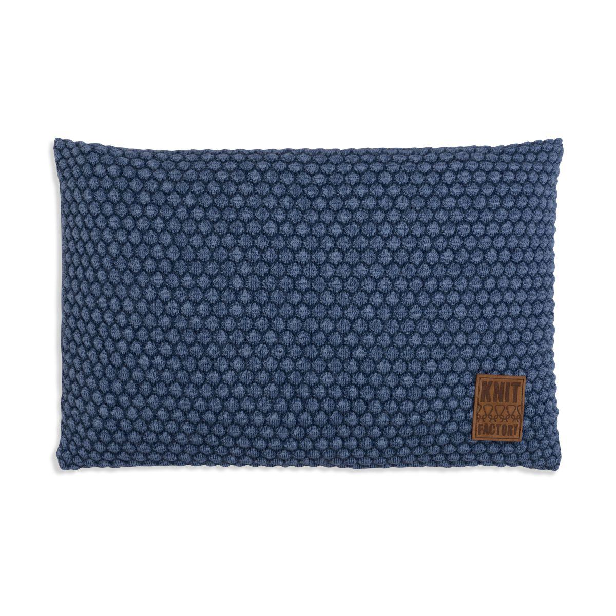 knit factory 1241354 kussen 60x40 juul jeans indigo 1