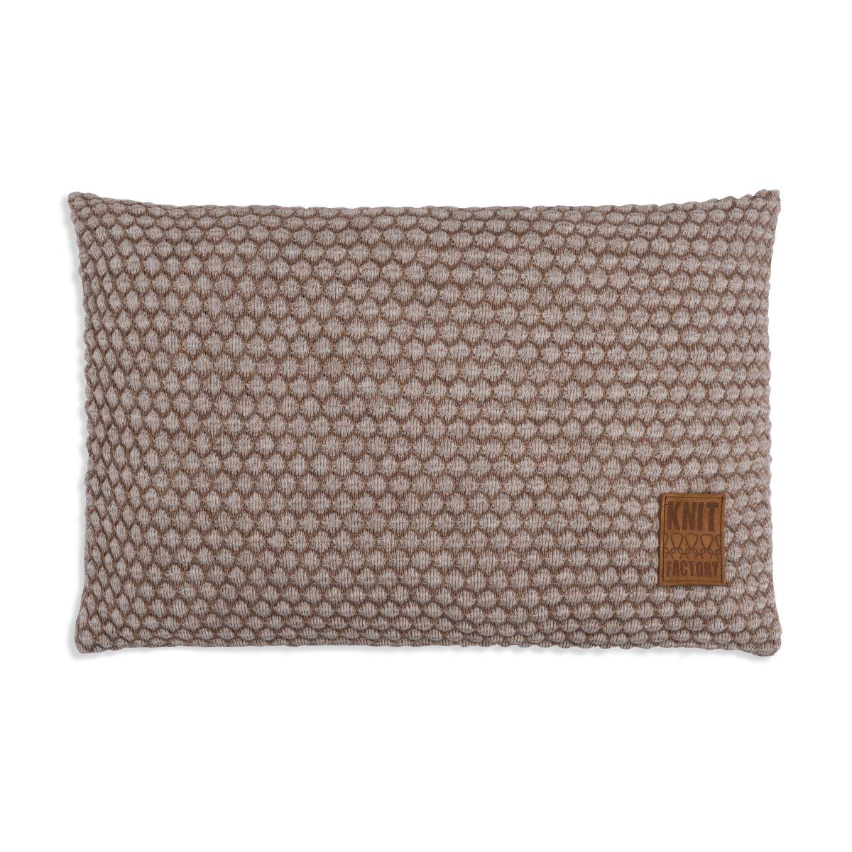 knit factory 1241353 kussen 60x40 juul marron beige 1