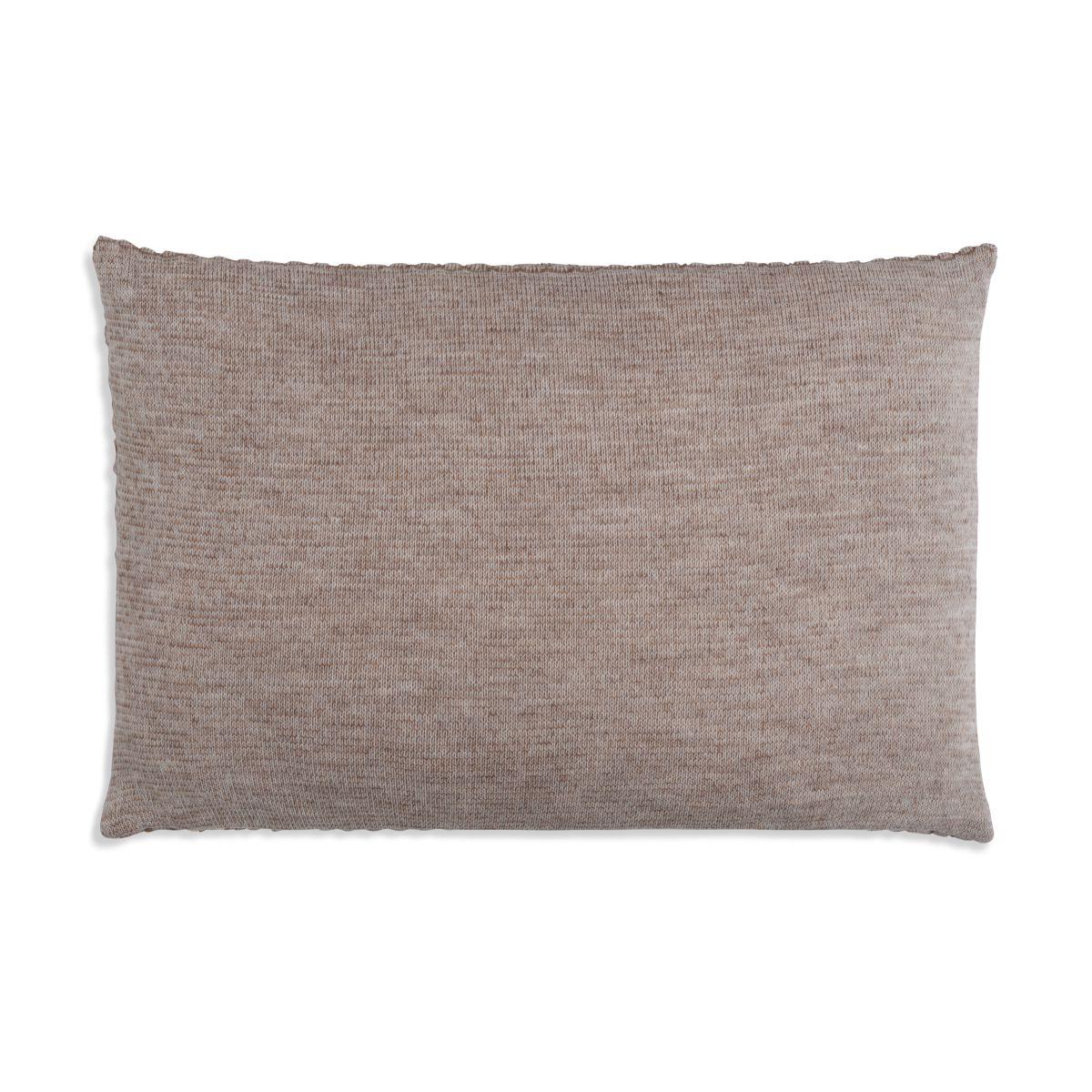 knit factory 1241353 kussen 60x40 juul marron beige 2