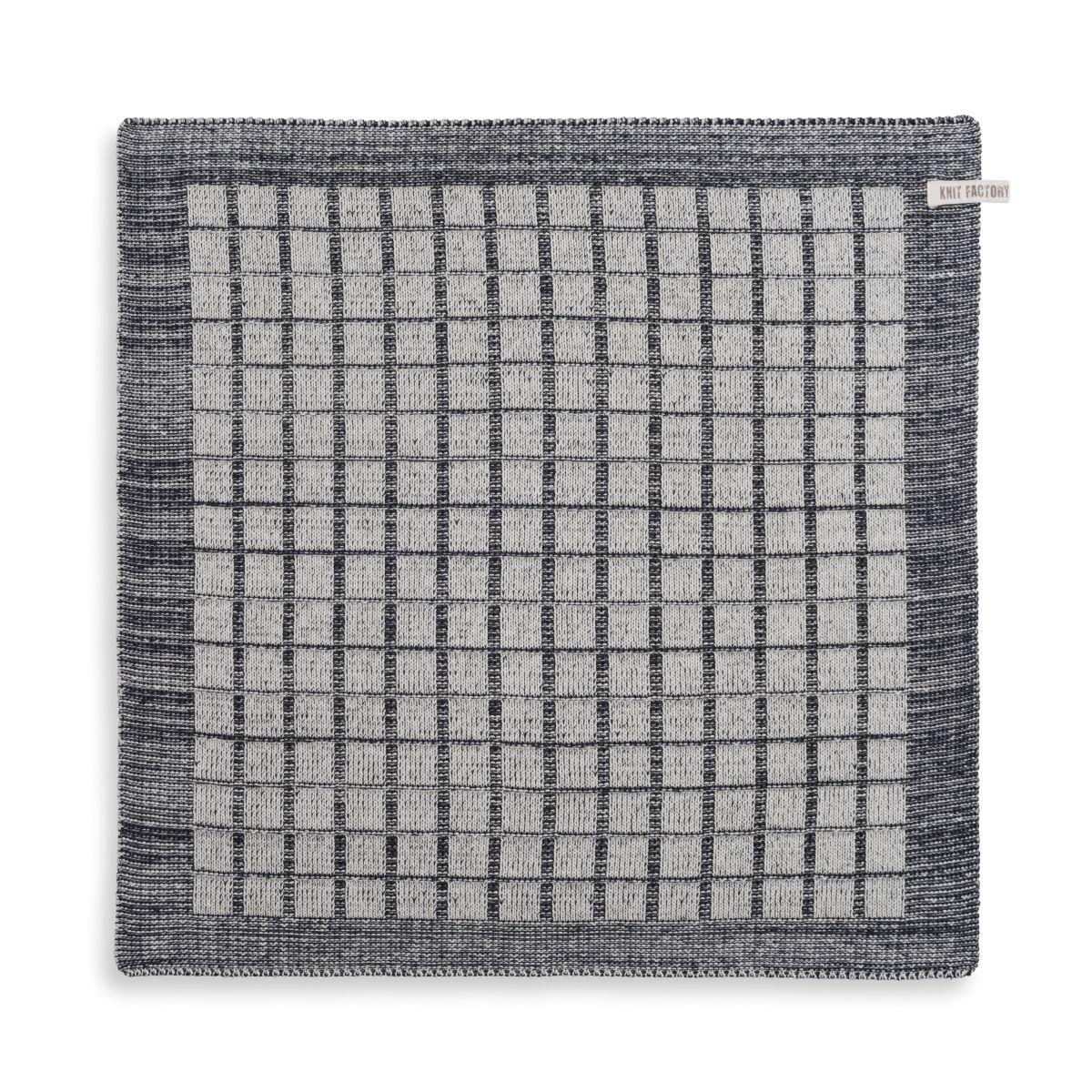 knit factory 2170070 keukendoek alice ecru antraciet