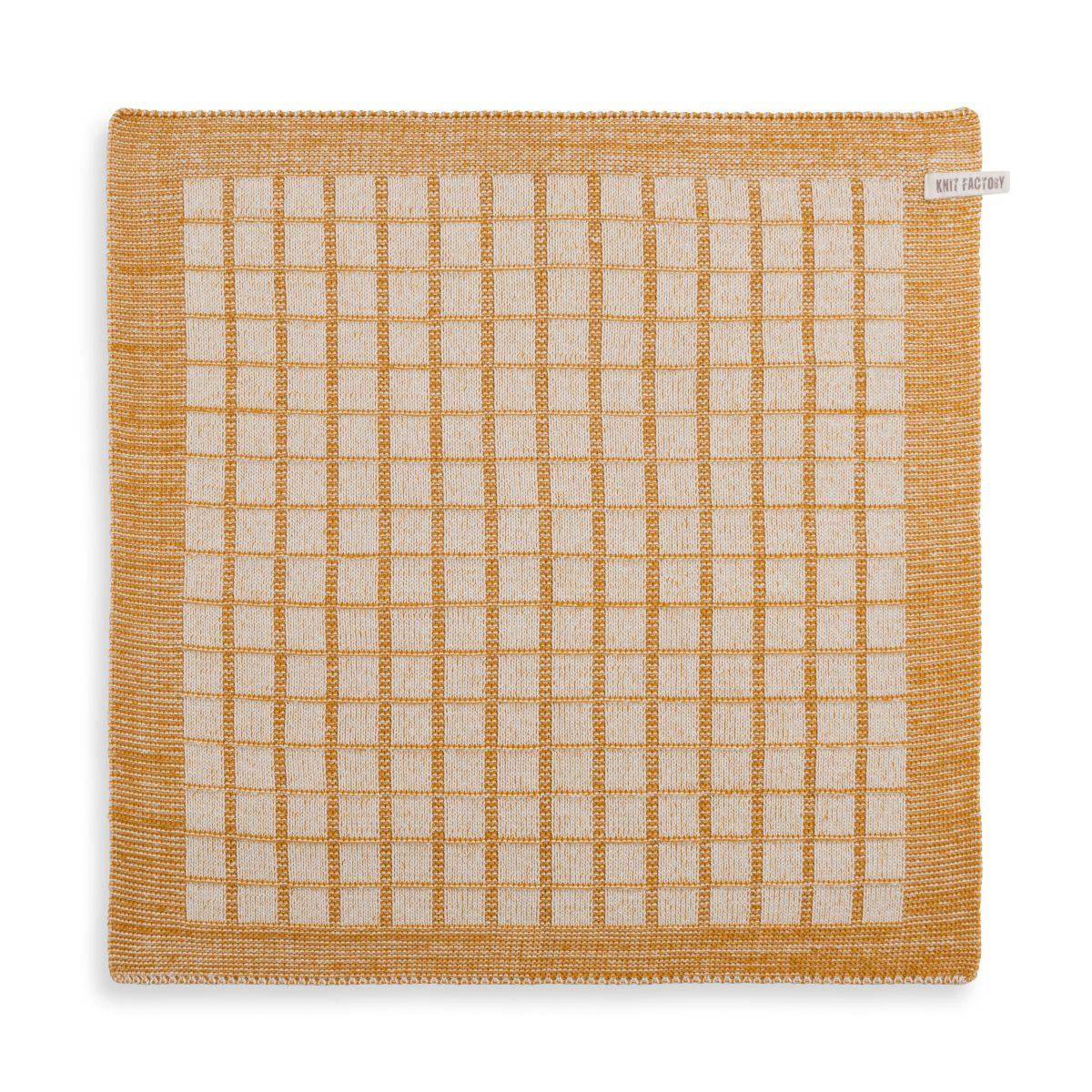knit factory 2170081 keukendoek alice ecru oker