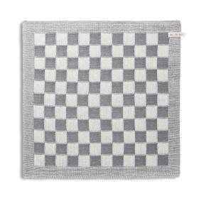 Keukendoek Block Ecru/Med Grey