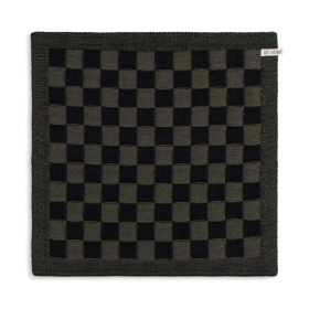 Keukendoek Block Zwart/Khaki