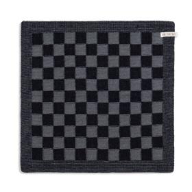 Keukendoek Block Zwart/Med Grey