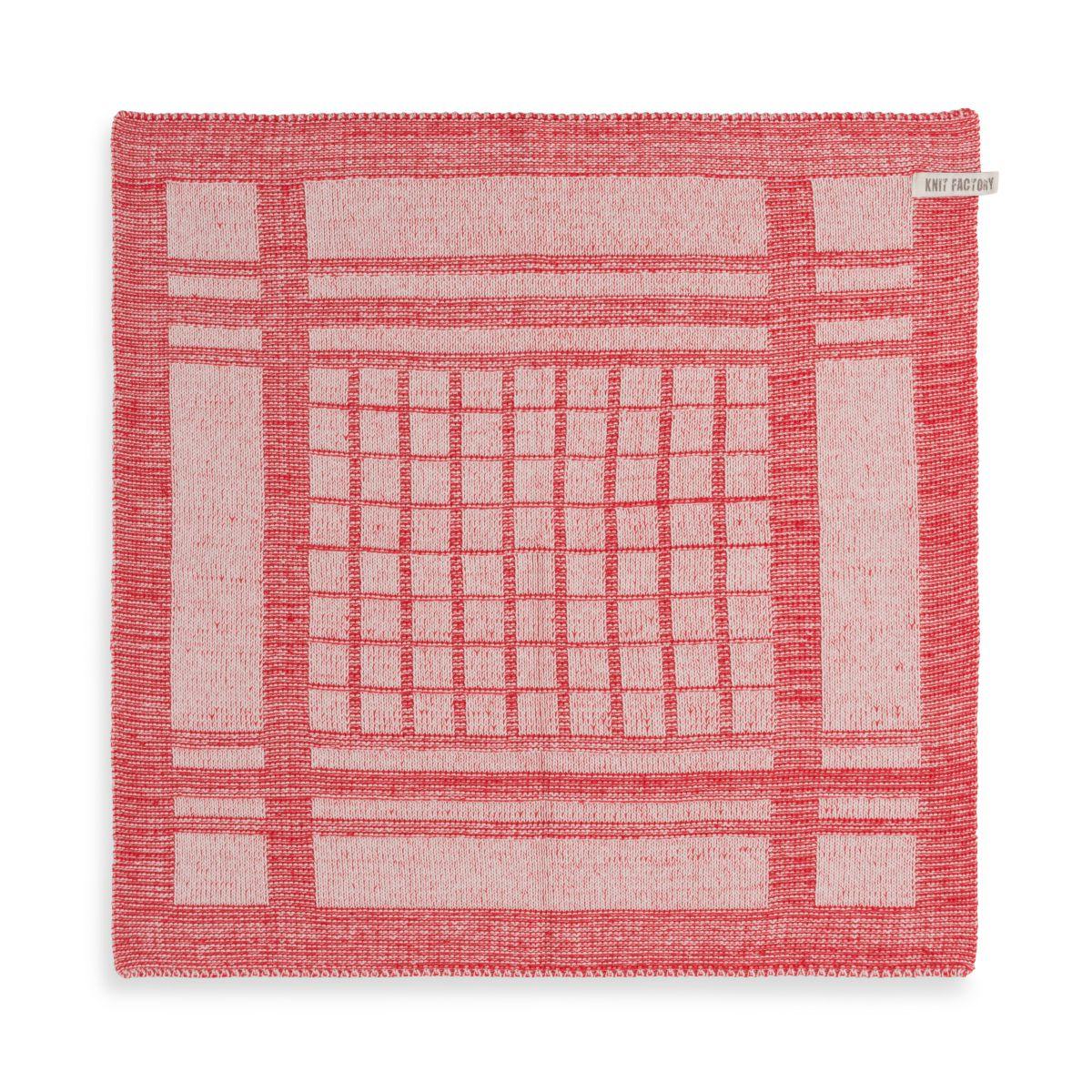 knit factory 2180073 keukendoek emma ecru rood 1