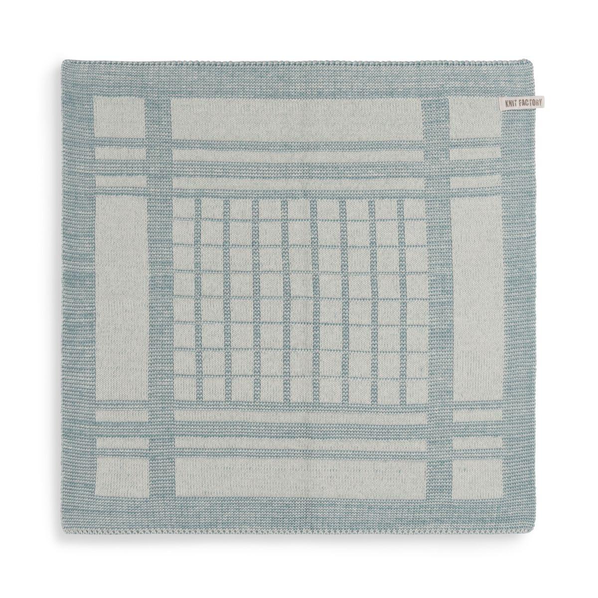 knit factory 2180076 keukendoek emma ecru stone green 1