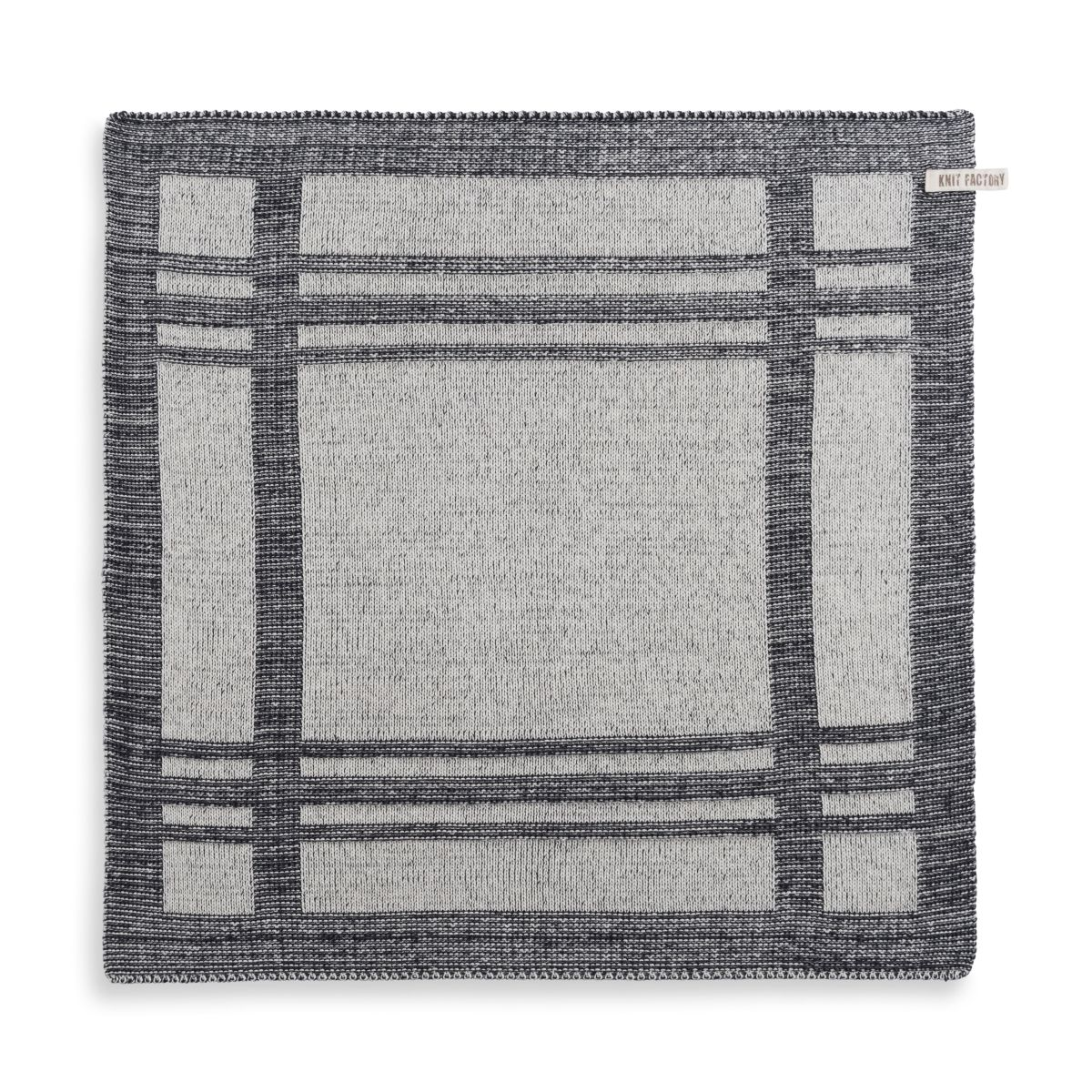 knit factory 2160070 keukendoek olivia ecru antraciet