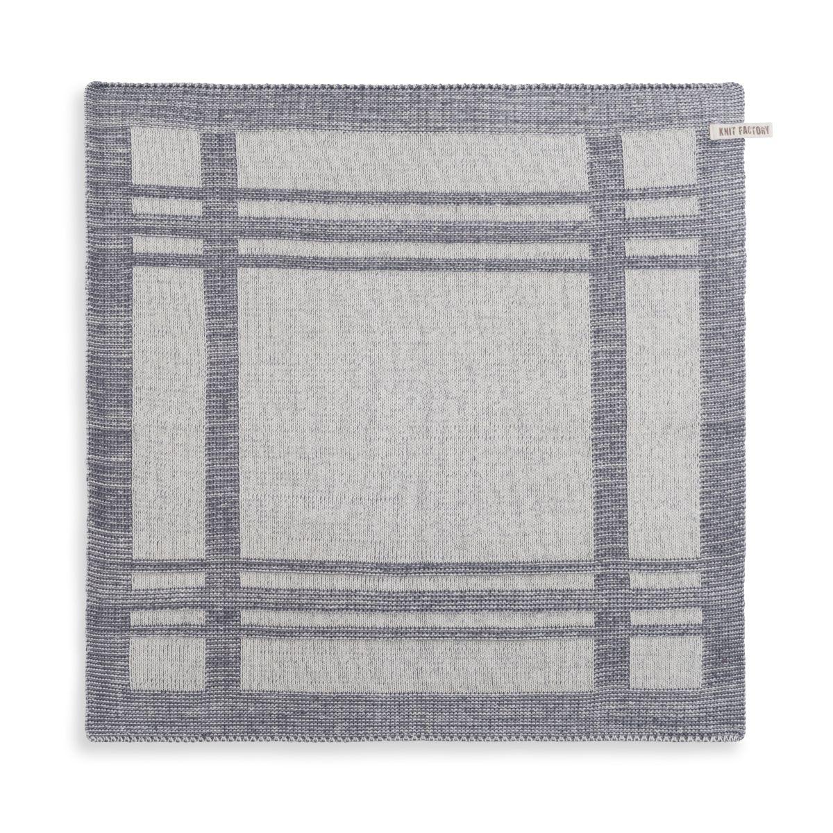 knit factory 2160079 keukendoek olivia ecru med grey
