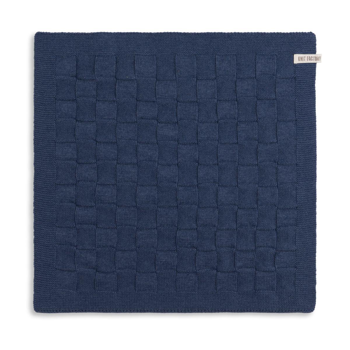 knit factory 2000013 keukendoek grote blok uni jeans