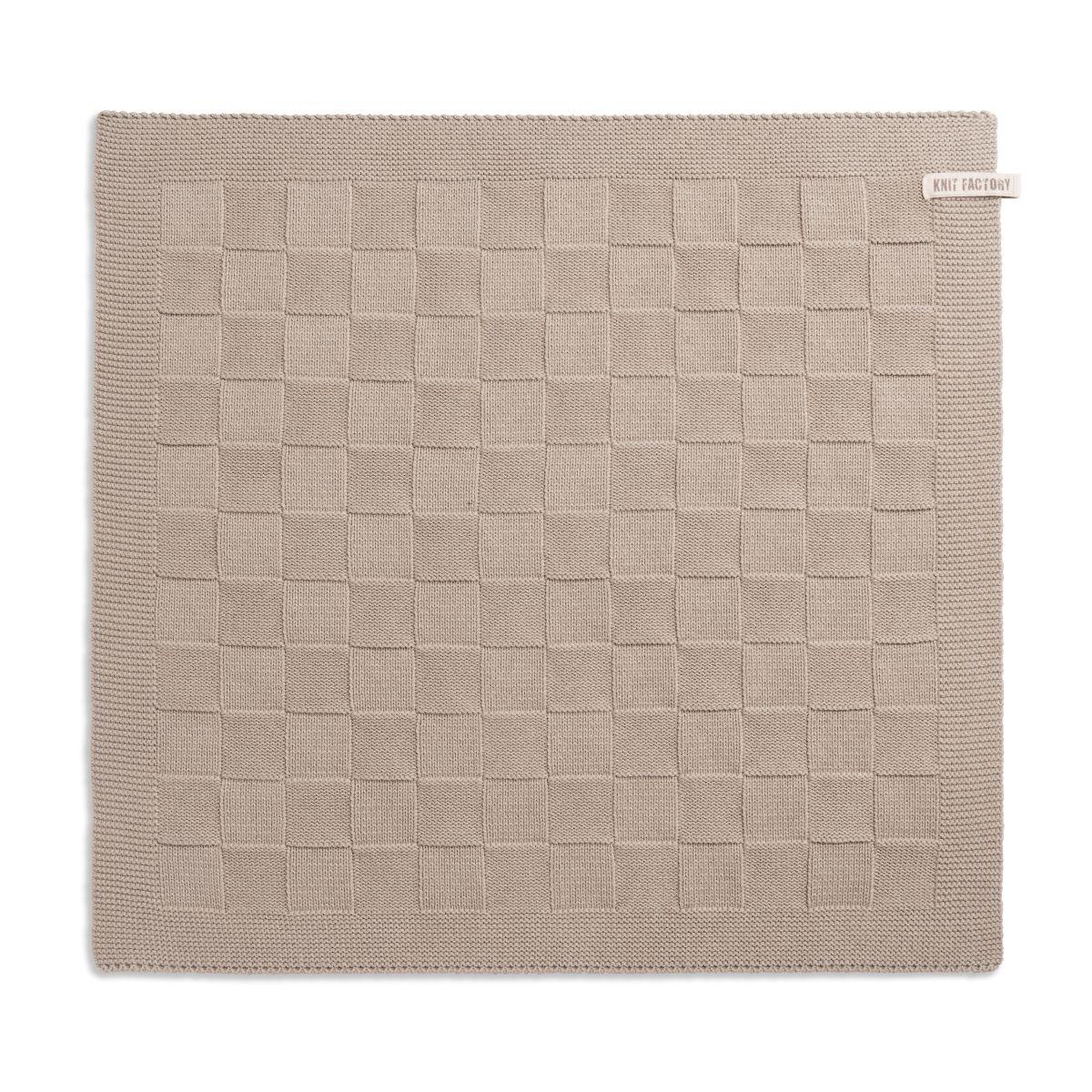 knit factory 2000028 keukendoek grote blok uni linnen