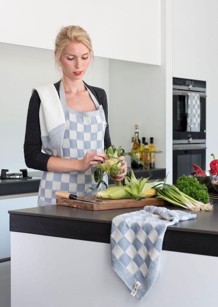 20104 knit factory keukenschort grote blok 2 kleuren ecru 11