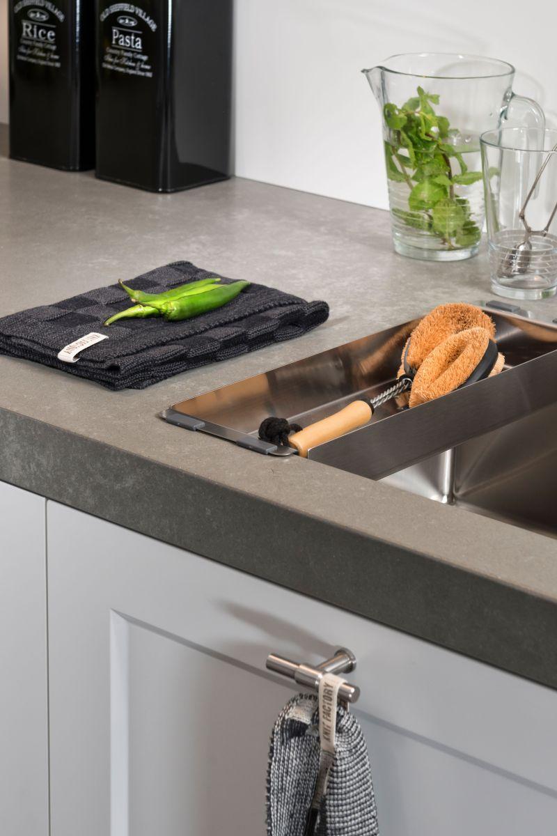 kitchen towel block blackstone green