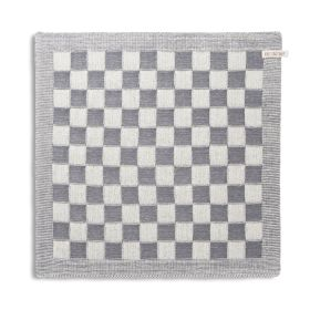 Kitchen Towel Block Ecru/Med Grey