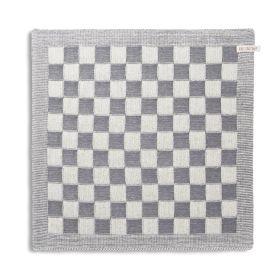 Kitchen Towel Block Ecru/Med Grey