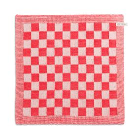Kitchen Towel Block Ecru/Red