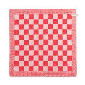Kitchen Towel Block Ecru/Red