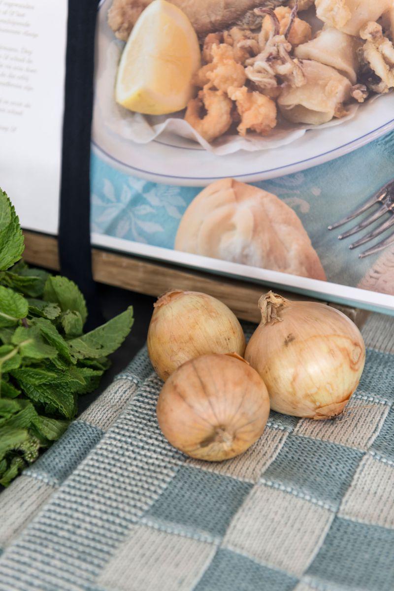 kitchen towel block ecrured