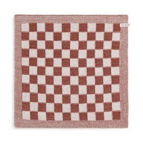 Kitchen Towel Block Ecru/Rust