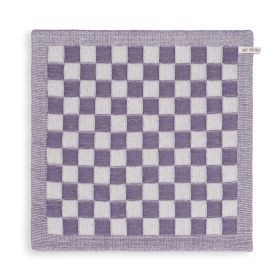 Kitchen Towel Block Ecru/Violet