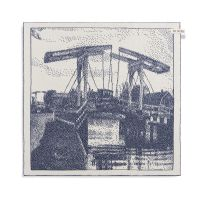 Kitchen Towel Bridge Ecru/Jeans
