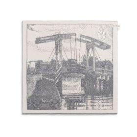 Kitchen Towel Bridge Ecru/Med Grey