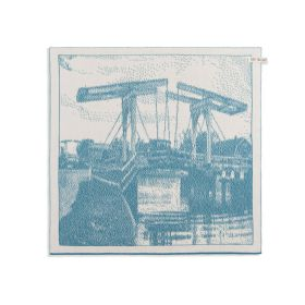 Kitchen Towel Bridge Ecru/Ocean