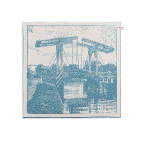 Kitchen Towel Bridge Ecru/Ocean