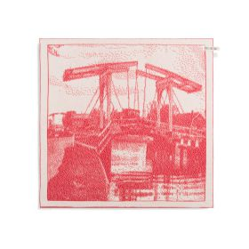 Kitchen Towel Bridge Ecru/Red