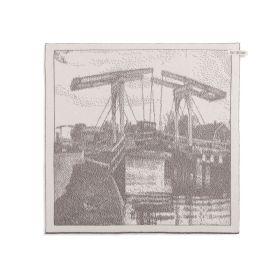 Kitchen Towel Bridge Ecru/Taupe