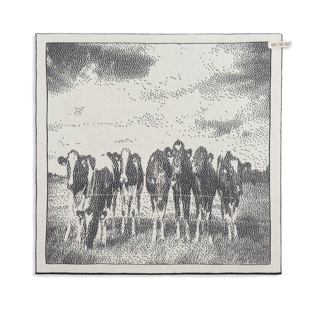 kitchen towel cows ecruanthracite