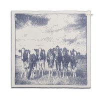 Kitchen Towel Cows Ecru/Jeans