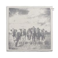 Kitchen Towel |Cows Ecru/Med Grey