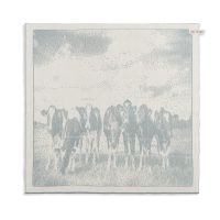 Kitchen Towel Cows Ecru/Stone Green