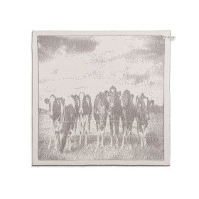 Kitchen Towel Cows Ecru/Taupe