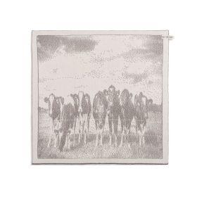 Kitchen Towel Cows Ecru/Taupe