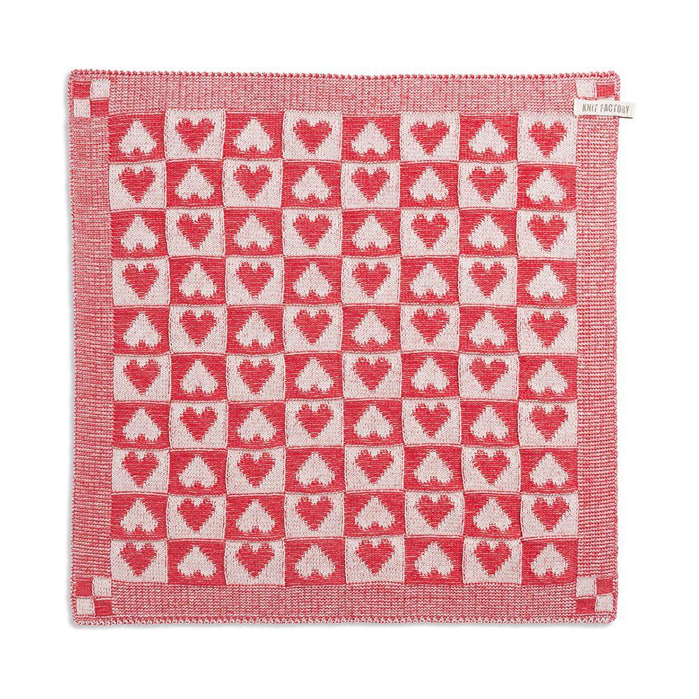 kitchen towel heart ecrured