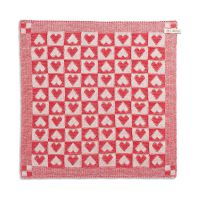 Kitchen Towel Heart Ecru/Red