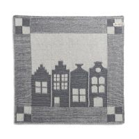 Kitchen Towel House Ecru/Med Grey