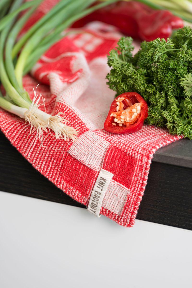kitchen towel house ecrustone green
