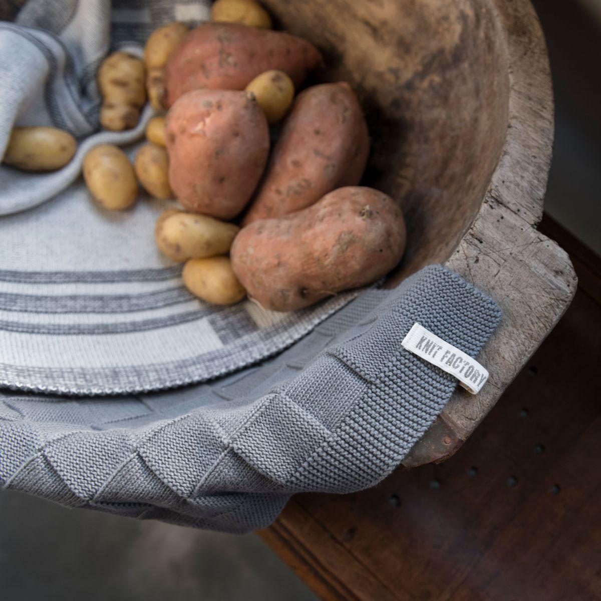 kitchen towel olivia ecrumed grey