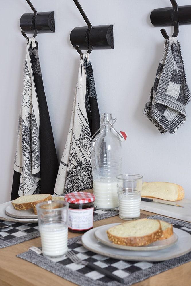 kitchen towel port ecruanthracite
