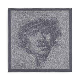 Kitchen Towel Rembrandt Ecru/Med Grey