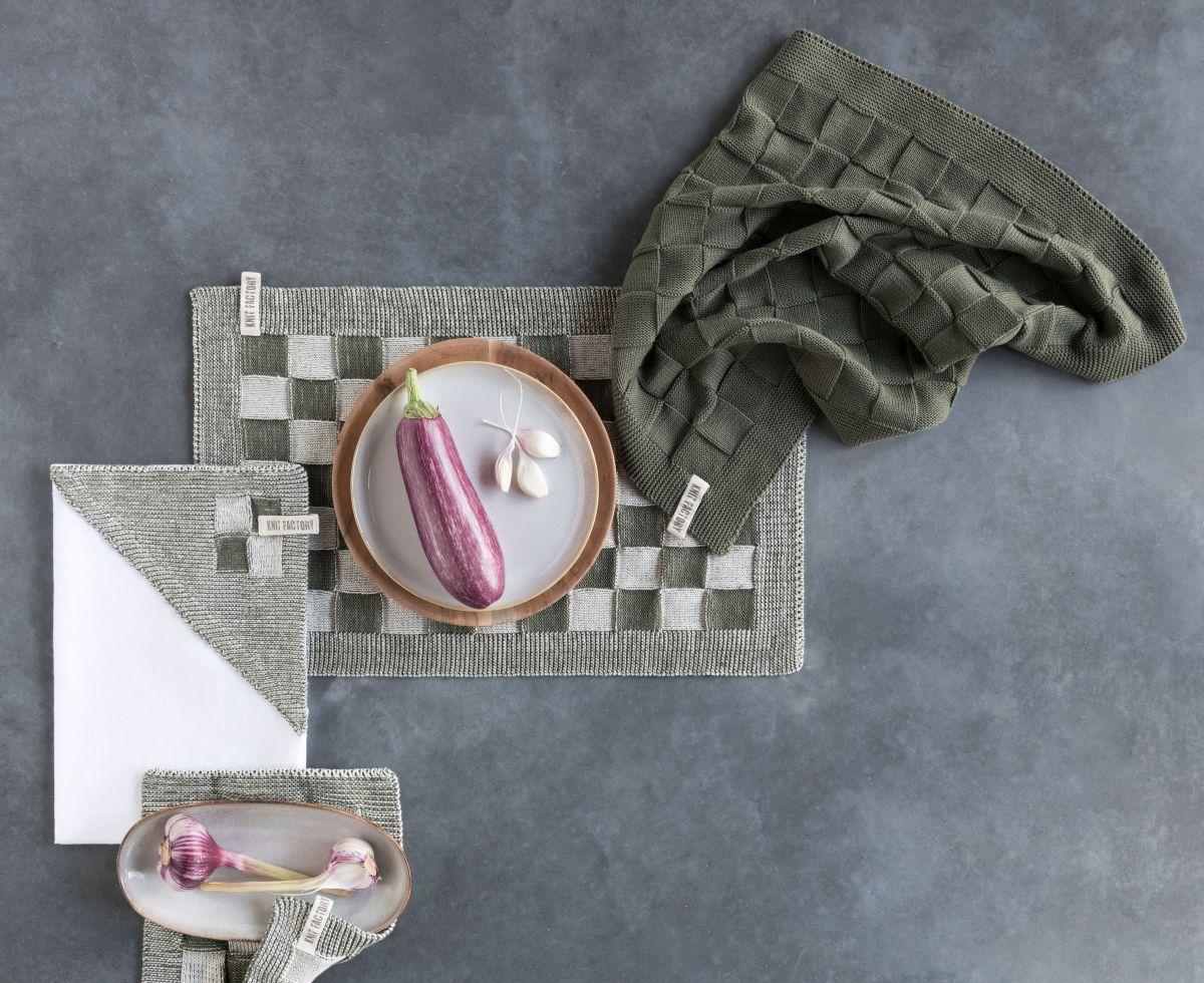 kitchen towel uni med grey