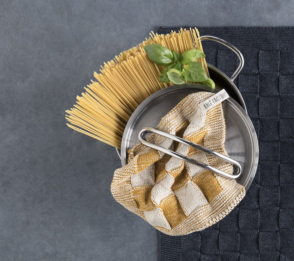 kitchen towel uni ochre