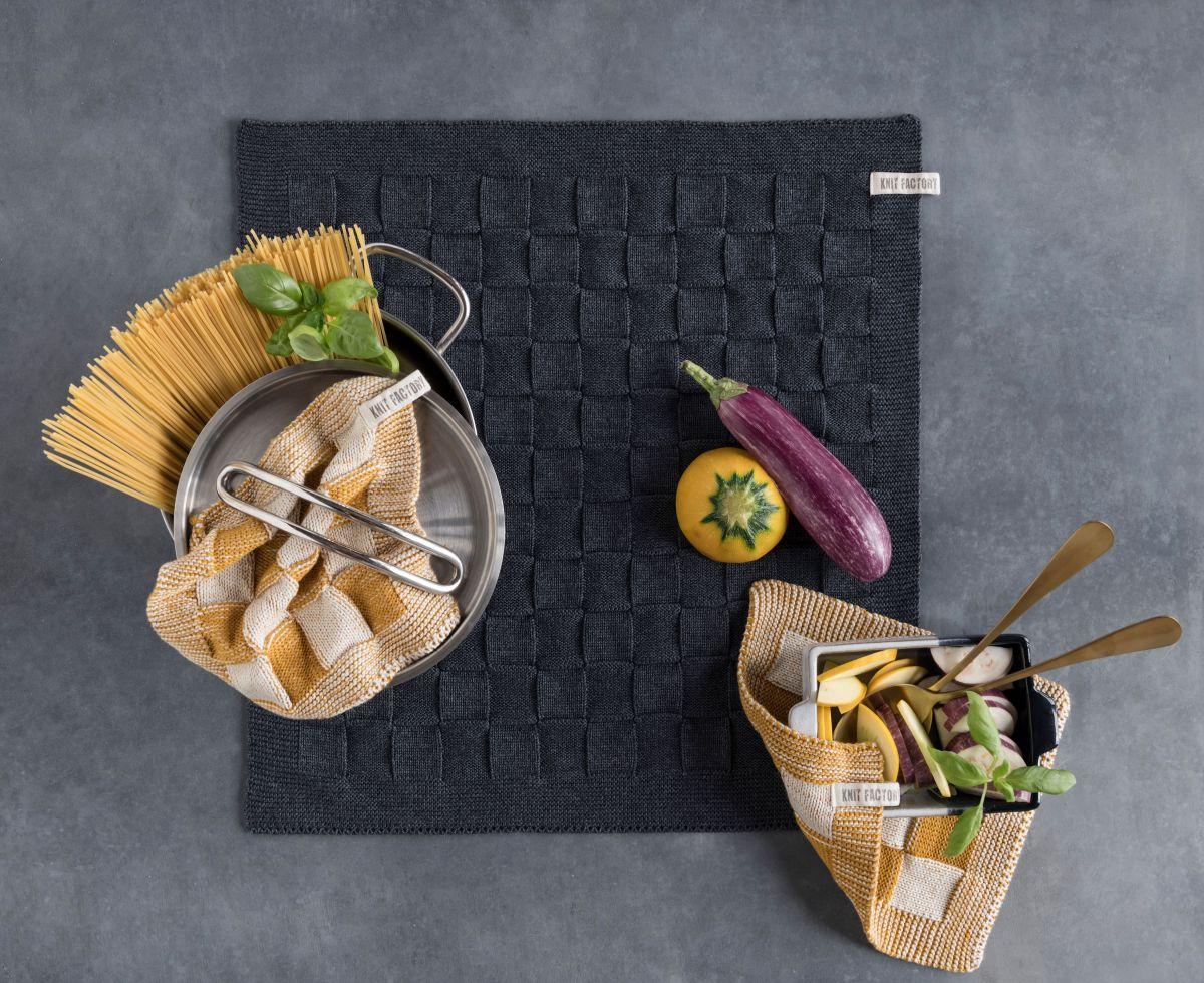 kitchen towel uni stone red
