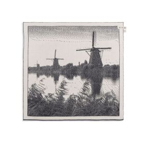 Kitchen Towel Windmill Ecru/Anthracite