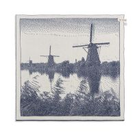 Kitchen Towel Windmill Ecru/Jeans