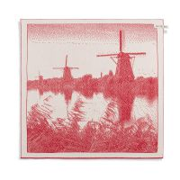 Kitchen Towel Windmill Ecru/Red
