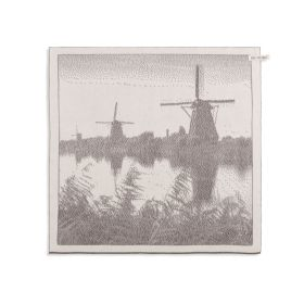 Kitchen Towel Windmill Ecru/Taupe